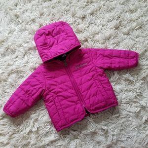 Columbia magenta reversible fall jacket fleece